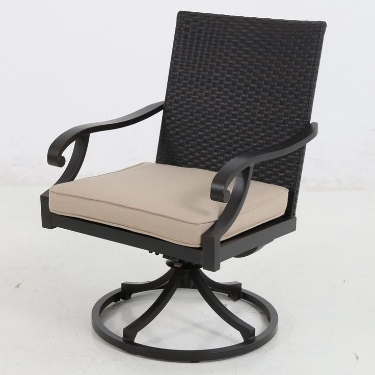 Royal Garden Summer Wicker Outdoor Swivel Dining Chair - Set of 2 Shadow - A145200-02-SCCS