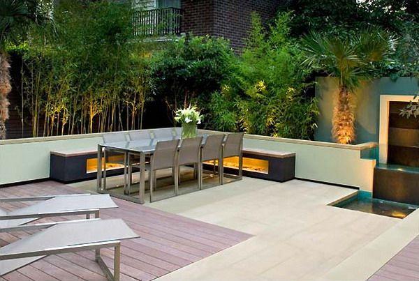 Modern Garden Design Seating Area Balcony Garden 400 x 300