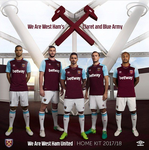 West Ham have unveiled their new home strip for the 2017-18 season