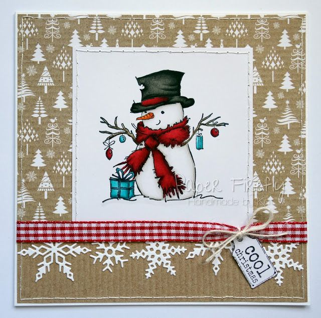LOTV - Mr Snowman with Krafty Christmas Paper Pad by Kat Waskett