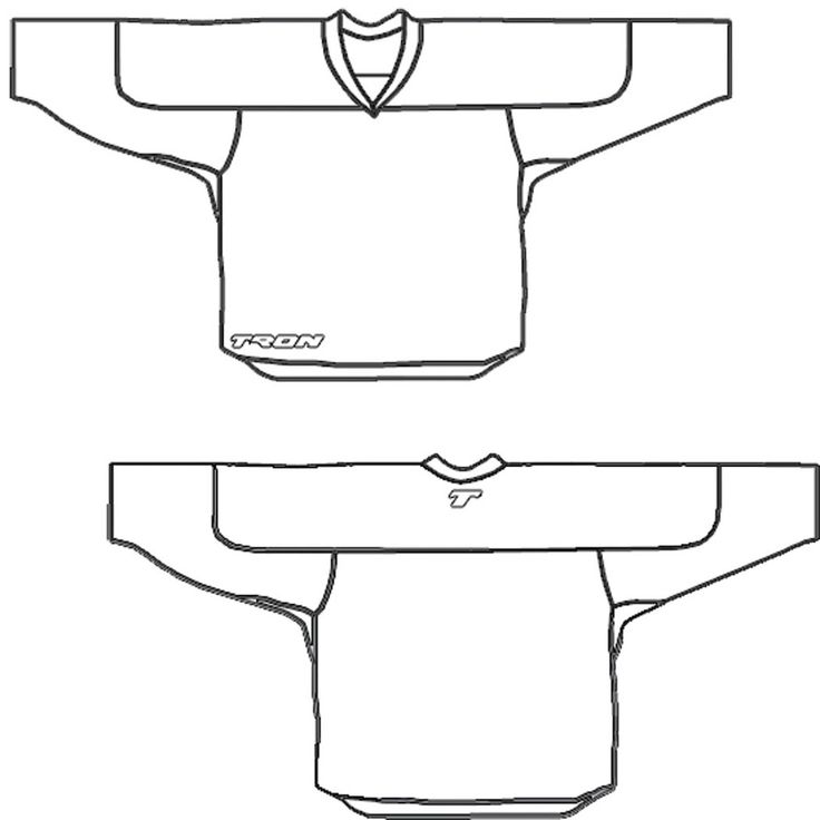 nhl jersey coloring pages   Back Of A Hockey Jersey Pages Coloring Pages