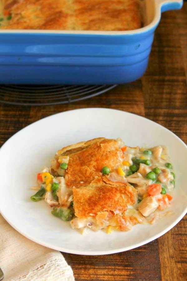 Chicken Pot Pie with Puff Pastry Crust | The Chef Next Door
