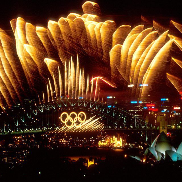 Tomorrow marks 15 years since the Opening Ceremony of the Sydney 2000 Olympic Summer Games. Here is the view of the Sydney Harbour Bridge with the Olympic rings lit up with fireworks. The next Summer Olympic Games will be held from 5 August to 21 August 2016 in Rio de Janeiro, Brazil. (C)Adam Pretty/ALLSPORT