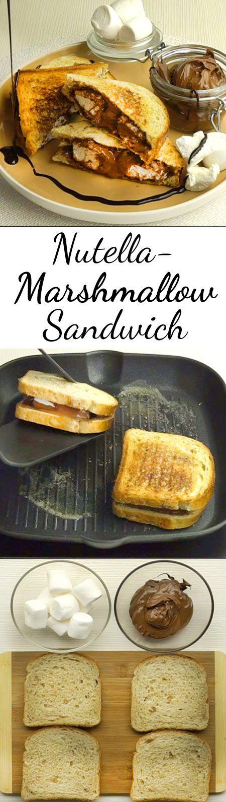 Wer einmal diese Kombi auf dem Brot hatte, will sein Sandwich nie mehr ohne Marshmallow essen!