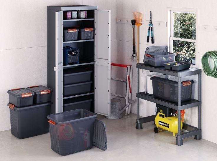Organiza el cuarto de herramientas con prácticas cajas.