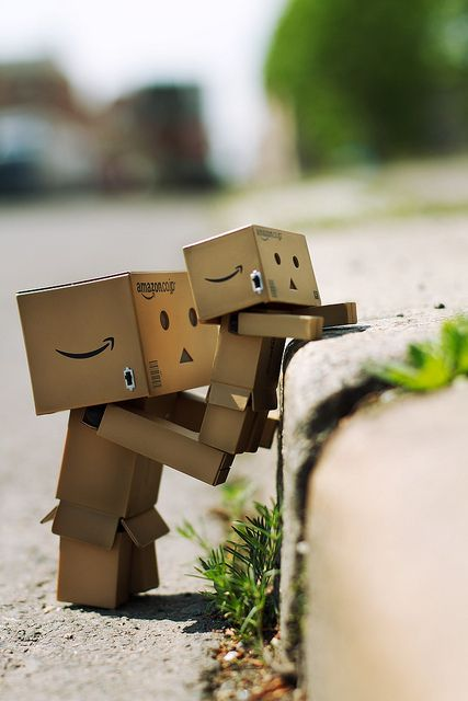Danbo cute kawaii robot art photo print for card or poster art for fathers day