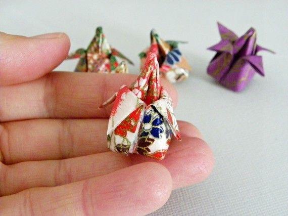 Lot fleur de lotus origami en papier japonais rose et rouge origami lotus et rouge - Origami fleur de lotus ...