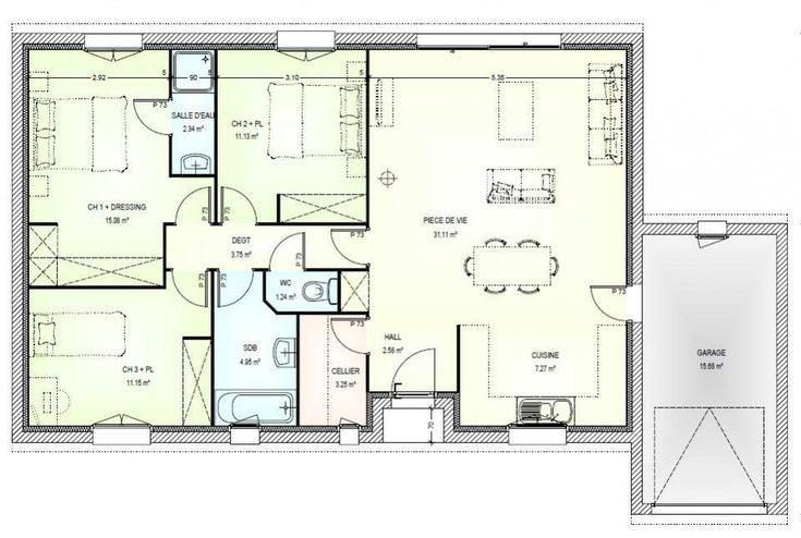 119 best maisons images on Pinterest Cottage floor plans, House