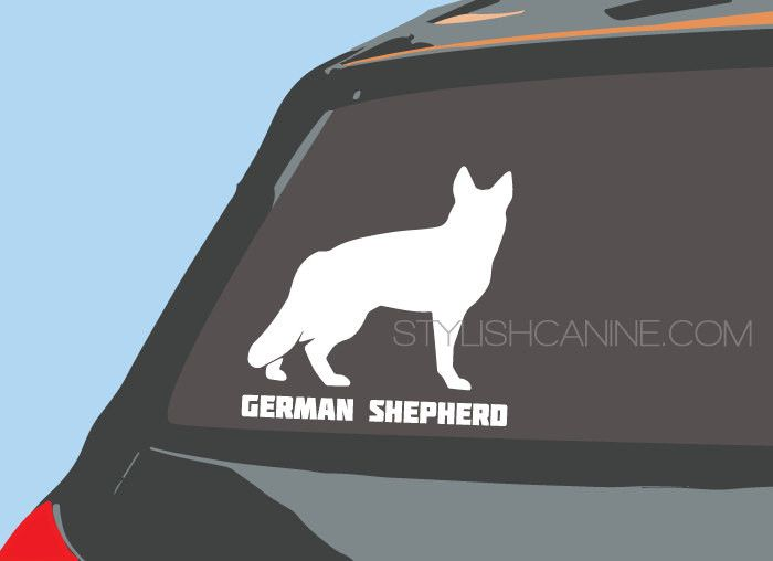GERMAN SHEPHERD Silhouette Dog Vinyl Decal For Car Windows - How to make your own vinyl decals for cars