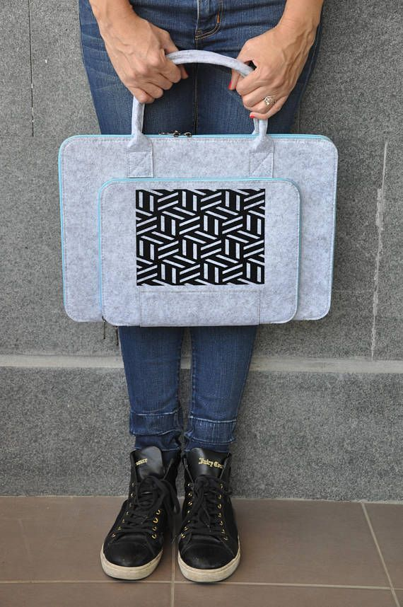 LAPTOP SLEEVE macbook pro 15, Laptop bag 15 inch, Felt laptop case, 15 Computer bag, Gray Laptop Briefcase, Grey Macbook bag, Laptop Tote #fashion #fashionblogger #bags #boho #bohostyle #tote #totebag #style #styleblogger #fashionista #sleeve