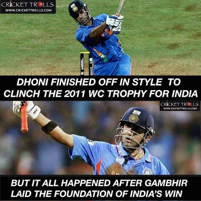 Onthisday In 2011 Gautam Gambhir Ms Dhoni Took India To Their 2nd Odi World Cup Title Win Facebook Com Mycricke Latest Cricket News Cricket News India Win