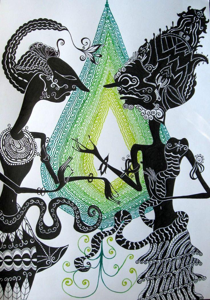 Wayang Kulit 2 #art #illustration #wayang_kulit