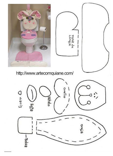 moldes de jogos de banheiro de pascoa 6