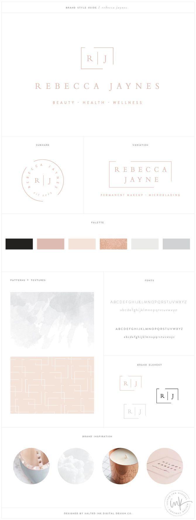 Rebecca Jaynes Beauty Salon Brand Design by Salted Ink | Salon Branding | Brand Design and Website Design | View the full brand transformation at http://www.saltedink.com |