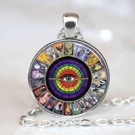 Tarot Card pendant Tarot Card Necklace Tarot by wizardofcharms, $9.50 I love wearing this when I do readings!