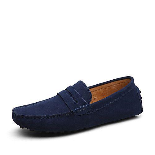 Homme Chaussures Cuir Daim Semelles Légères Chaussures formelles Mocassins et Chaussons+D6148 Pour Décontracté Bleu marine Vert Kaki Bleu de 2017 ? $30.02