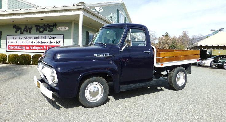 1954 Ford F100 Stake Bed Truck   1955 Ford F100 Flatbeds ...