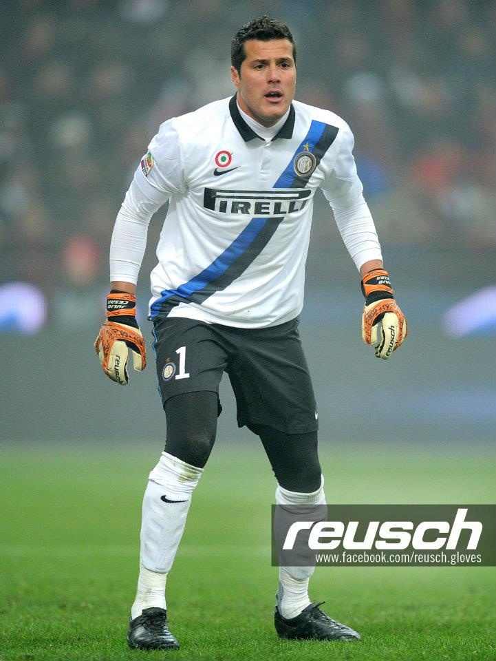 Julio Cesar - Inter goalkeeper.