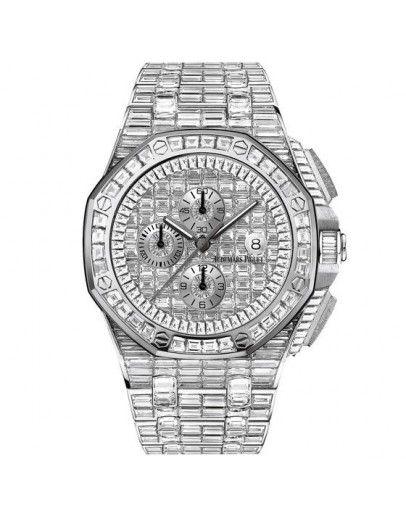 07ec852e58d Audemars Piguet Royal Oak Mens Iced Out Diamond Replica