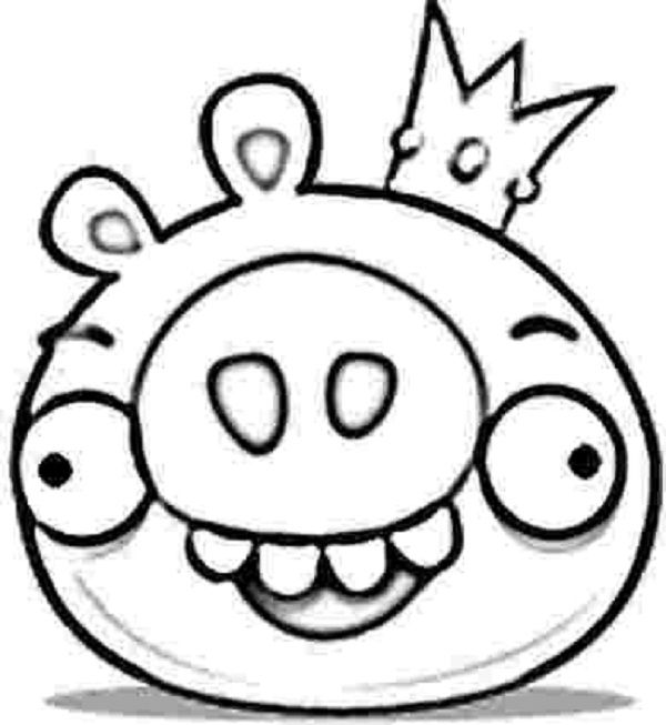 Angry birds king pig coloring pages coloring kids for Angry bird pig template