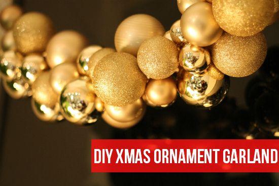 mint love social club: {diy christmas ornament garland}