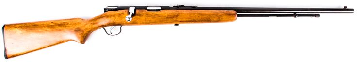 """Lot 37 in the 7.7.15 online & live auction! Vintage Stevens Model 87CD in 22 L/LR Bolt Action Rifle. Features a 24"""" barrel with a bright clean bore; fixed blade front & adjustable leaf rear sights; and 15 rd. tube feed magazine. The hardwood stock is in great condition and the stainless steel bolt has good action. Bluing is about 75%. Good back yard gun. These guns shoot fast, and can shoot .22 L or .22 LR cartridges. Used. #Firearm #Gun #Ammo #POGAuctions"""