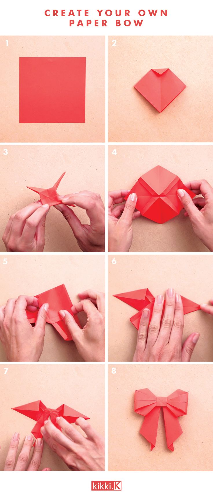 Decorate your gifts with this gorgeous DIY origami paper bow. Click through to…