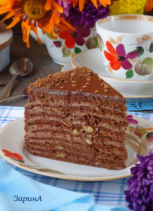 Торт медовый, шоколадный. Рецепт c фото от Zzoloto 29 мая 2015 на koolinar.ru