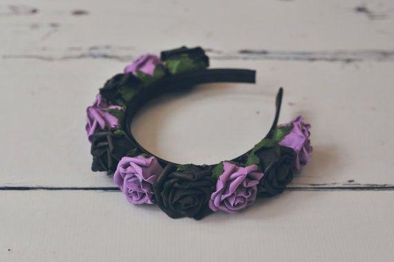 Hårband - Black and Purple