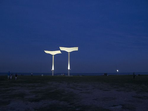 Monumento al Milenio, Vicente López, Buenos AIres. Diseñado por Amancio Williams y emplazado a orillas del Rio de la Plata en el añño 2000