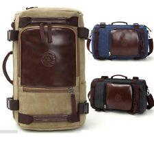 Винтажная кожа холст рюкзак туризм школьная сумка рюкзак Sport Дамская сумка