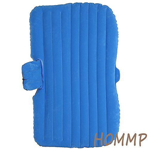 HOMMP Car Bed Car Travel Inflatable Bed Travel Inflatable Mattress for Parent-child or Lover (Blue Flocking) - READ ADDITIONAL DETAILS @: http://www.best-outdoorgear.com/hommp-car-bed-car-travel-inflatable-bed-travel-inflatable-mattress-for-parent-child-or-lover-blue-flocking/