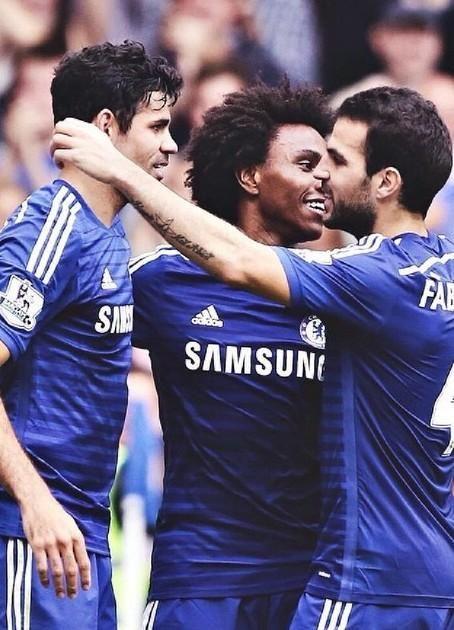 Diego Costa, Willian and Cesc Fabregas - Chelsea FC.