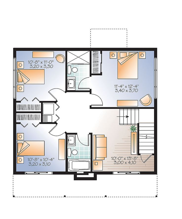 36 best house drawing layout images on Pinterest Modern home plans - plan d une belle maison