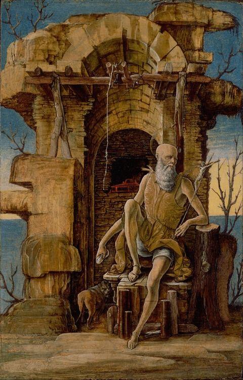 Ercole de'Roberti - Saint Jerome in the Wilderness; The J. Paul Getty Museum, Los Angeles, California, USA; c.1470