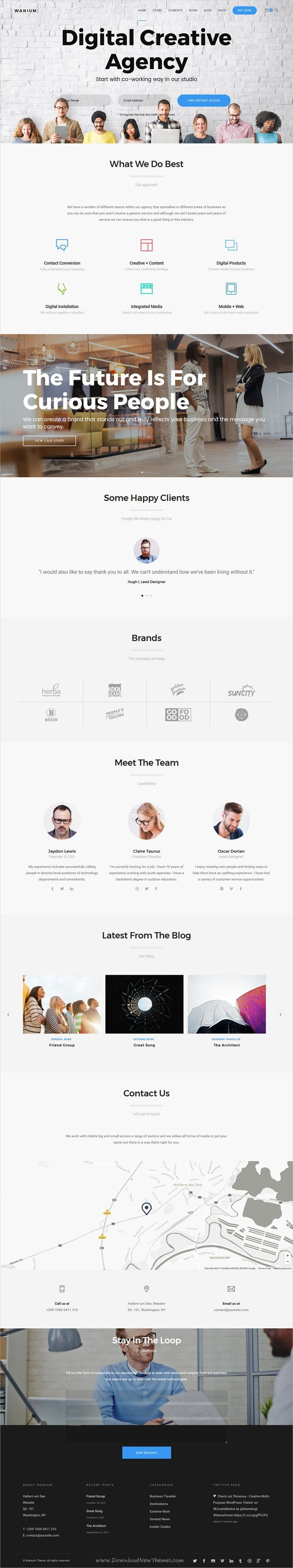 Wanium is a visually stunning responsive #WordPress theme for #digital #agency awesome websites with 18+ multipurpose niche homepage layouts download now➩ https://themeforest.net/item/wanium-a-elegant-multiconcept-theme/18977142?ref=Datasata