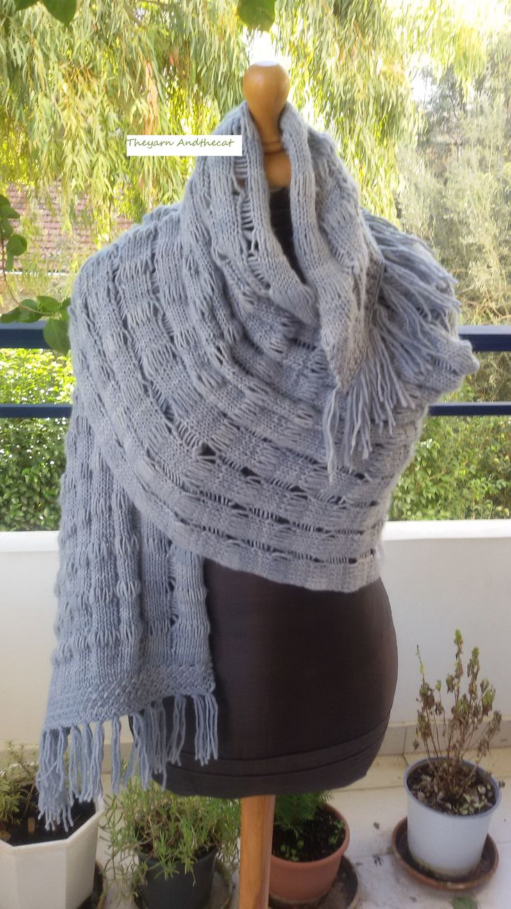 Unique and warm Pasmina shawl from merino wool. From my personal collection!!!