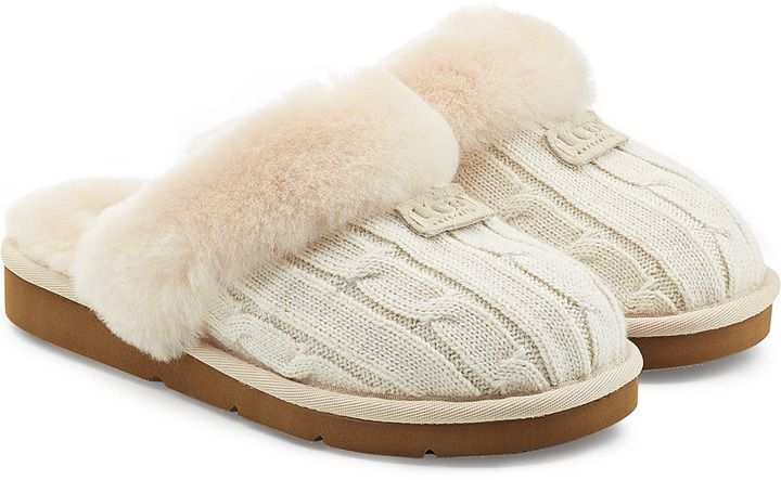 UGG Australia Cozy Knit Slippers with Wool and Sheepskin