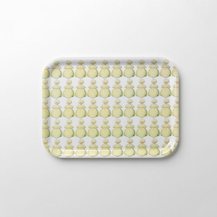 Frau Rosenkohl Tablett, quadratisch, Design House Stockholm