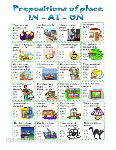 prepositions of place worksheet - Free ESL printable worksheets made by teachers