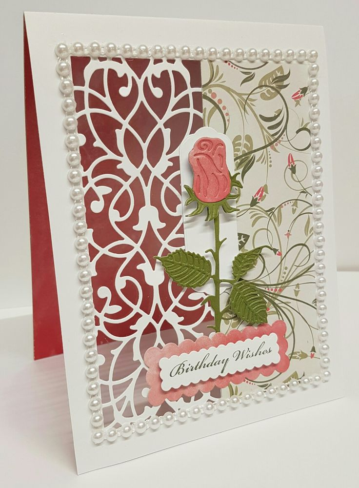 Tattered Lace Decorative Trifold Die and Delicate Rose