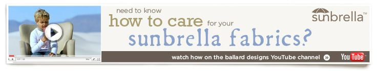How To Care For Your Sunbrella Fabrics
