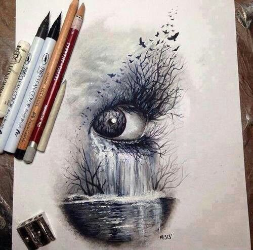 Best Desenho Images On Pinterest Draw Drawing And Drawing Art - Artist creates amazing 3d sketches that leap from the paper theyre drawn on
