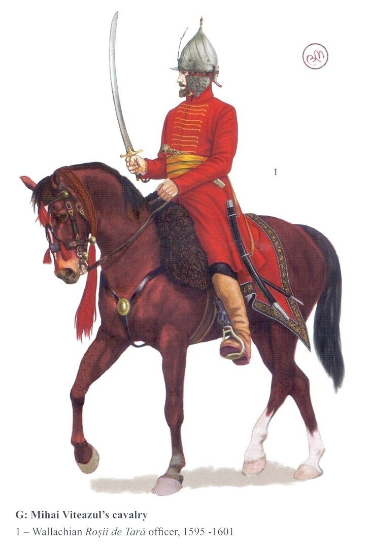 Wallachian Roșii de Tară (reds of the country) officer, 1595-1601