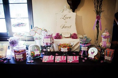 Elegant Candy Buffet Table