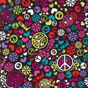 peace, flowers and hearts