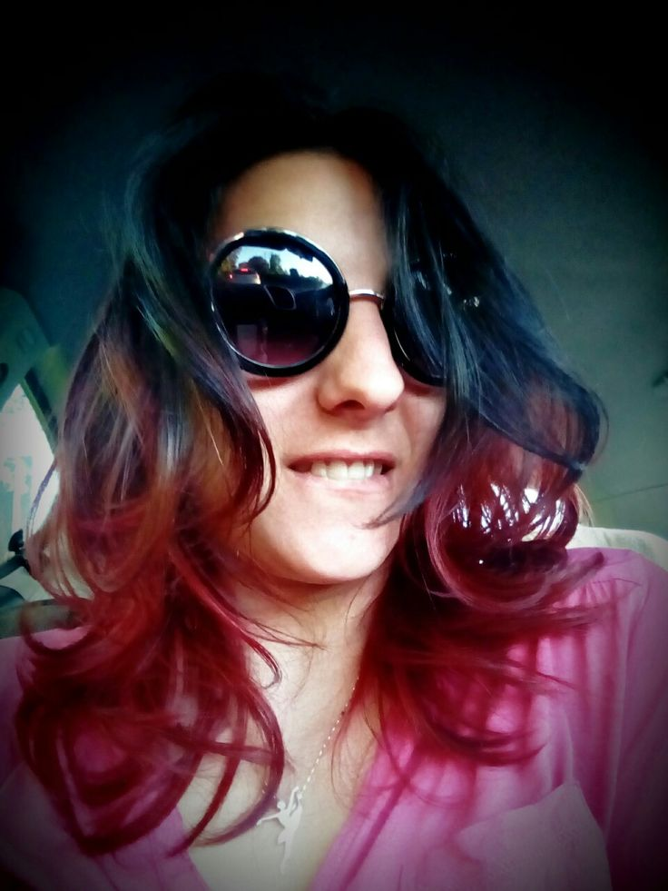 Red&black ombre hair. rock'n'roll baby!!!! #ombre #newstyle #red&black