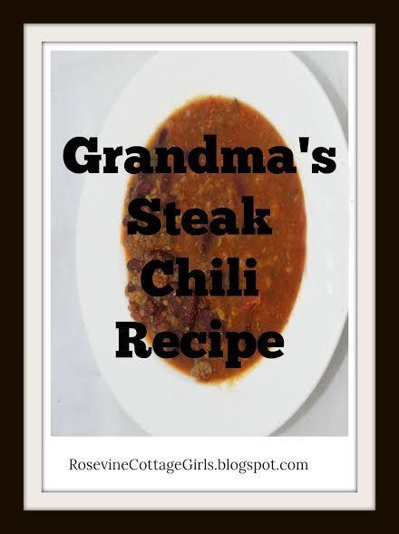 Grandma's AMAZING Steak Chili Recipe