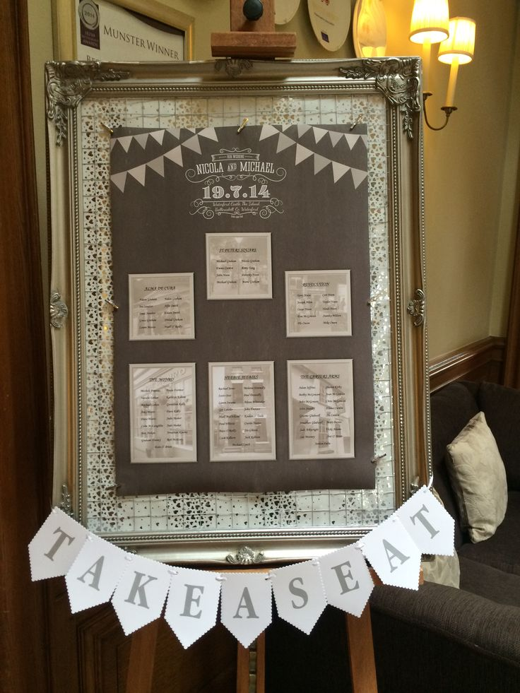 A pretty table plan display at the Munster Room.