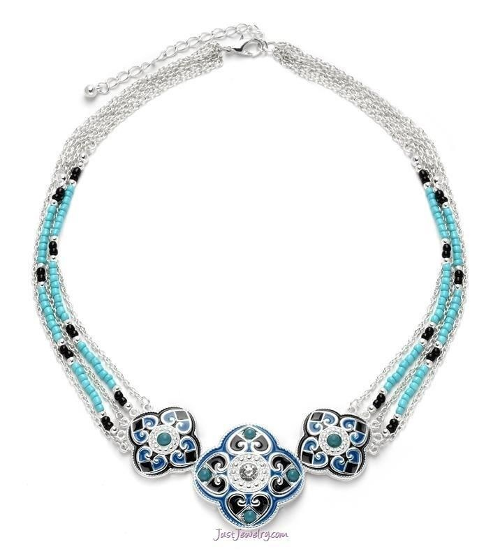 """Dream Come True"" Necklace  Blue & Turquoise is HOT this coming season."
